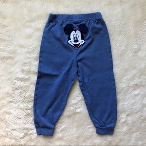 Mickey Mouse Blue Toddler Sweatpants Size 24M
